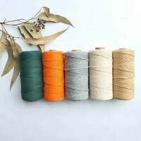 3mm Macrame Cord Cotton Rope x100m Twisted String Coloured Natural DIY Craft AU