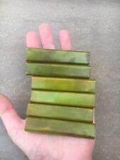 More details for vintage group of phenolic amber bakelite catalin door drawer handle green 99 g