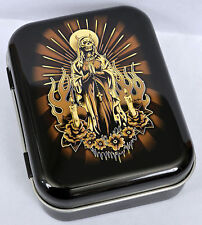 DEAD MADONNA DAY OF THE DEAD SKELETON MEXICAN RELIGIOUS TOBACCO TIN MINTS PILL