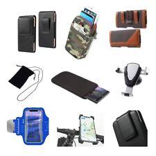 Accessories For ZTE Warp, N860: Sock Bag Case Sleeve Belt Clip Holster Armban...