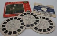 VIEW MASTER LASSIE AND TIMMY 3D REEL PACKET (3) B474 with Sleeve