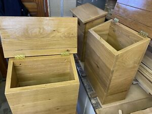 solid oak Post Box Parcel Mail Delivery Box