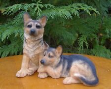 Leonardo Resin Dogs German Shepherd Puppies Ideal Gift for Dog Lovers Bnew Gift