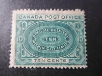 "CANADA STAMPS   #E1 UNUSED NG 1898  ""SPECIAL DELIVERY WITHIN CITY LIMITS"""