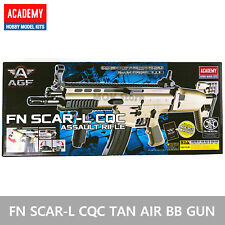 ACADEMY FN SCAR- L CQC (TAN) Airsoft BB Gun 6mm / Assault Rifle Foldable Toy Gun