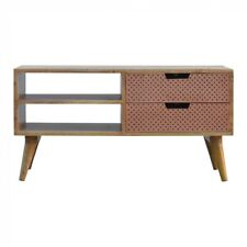 Scandinavian Nordic Style TV Stand Media Unit With Copper Drawers