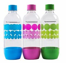SodaStream 3 X Carbonating Bottles 1 Liter /33.8 Oz EXPIRE 3 YEARS Pack of 3 LOT