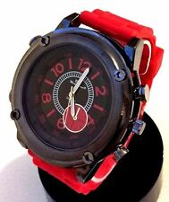 Mens Fashion Watch Mark Naimer MN8083 Red Silicone Band, Mens Sports watch 1 ATM
