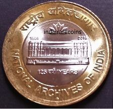 India 2015 Bimetallic BIMETAL National Archives N Mint Coin 10 Rs Unc NEW