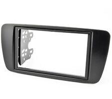 Radioblende für Seat Ibiza 6J 6P ab 2008 Doppel DIN Blende Einbaurahmen schwarz