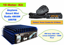 100 Watts 10 Meter Kit: AnyTone Smart 10Meter and RM Italy 7405 10M Amplifi