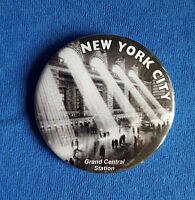 NYC Grand Central Station - Large Button Badge - 58mm diameter
