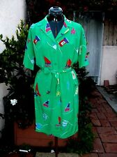Emanuel Ungaro Sola Donna Paris silk crepe shirt dress M L VTG SPRING IS HERE!