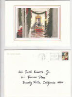Ronald Reagan Official White House Christmas Card to Frank Sinatra, Jr. 1988