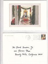 Ronald Reagan Official White House Christmas Card to Frank Sinatra, Jr. 1988