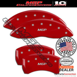 MGP Caliper Brake Cover Red 16216SMGPRD Front Rear For Toyota Venza 2014-2015