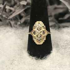 14ky Gold Estate Ring With Diamonds