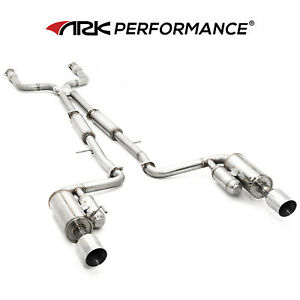 2011-2013 M37 VQ37VHR ARK Performance GRiP Cat Back Exhaust with Polish Tips