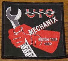 UFO MECHANIX BRITISH 1982 TOUR EMBROIDERED WOVEN COLTH SEWING SEW ON PATCH