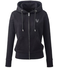 More details for french bulldog frenchie gifts embroidered ladies organic full zip hoodie