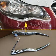 Chrome Headlight Strip For Subaru XV Crosstrek 2013-2015 Head Light Trims