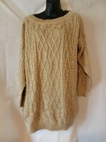 """80s Vintage Gold Metallic Pullover Sweater-48""""Bust-XL-Florence Italy-Belvedere"""