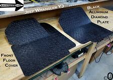 Jeep Wrangler YJ BLACK Aluminum Diamond Plate Front Floor Cover