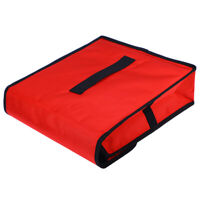 1pc Pizza Delivery Bag Red Insulated Thermal Food Storage Holder Pizza Boxes
