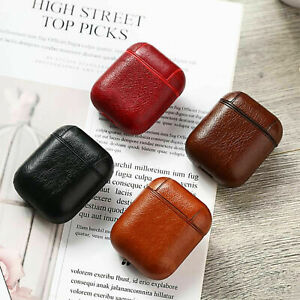Luxury PU Leather Earphone Airpod Pro Charge Case Cover For Apple Airpods 1 2