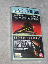 VHS Tape 2 films Antonio Banderas Mask of Zorro and Desperado Quentin Tarantino