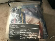 Sunbeam SlumberRest Cordless Heated Blanket Acrylic Full-Size in Beige