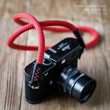 Rope Camera Strap HandMade (Beal Static Rope) Lieca sony Fuji Red 100cm
