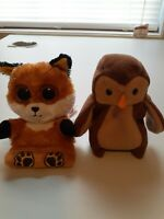 Lot Of 2 Ty Beanies Sly And Hoot