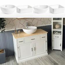 Bathroom Vanity | White Wash Stand Cream Top & Ceramic Basin A