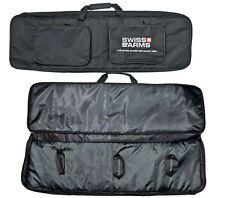 SWISS ARMS LONG BLACK WIDE PADDED TACTICAL GUN SLIP Bag Case scope air shotgun r
