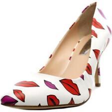Zapatos de tacón de mujer de tacón alto (más que 7,5 cm) de color principal blanco sintético
