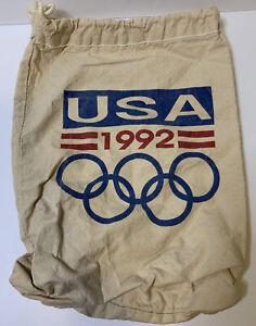 USA 1992 Olympics Canvas Draw String Bag