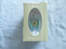 TELEVISION - COLLECTIBLE MINI-CLOCK - MIB - OLD STYLE TV - LIGHT BLUE