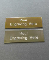 Engraved plaque/plate Various sizes in Gold or Silver - for frames or trophies