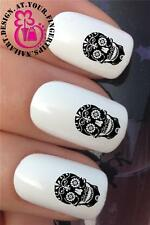 WATER NAIL TRANSFERS SUGAR SKULL DAY OF THE DEAD DECALS STICKERS SET *306