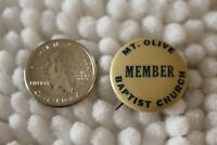 Mt. Olive Baptist Church Member Vintage ST Louis Button Co Pin Pinback #30768