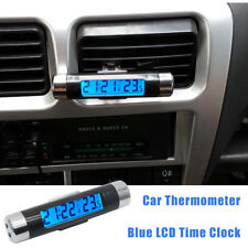 2 in 1 Digital LCD Thermometer+Clock For Car Bicycle Motorcycle Auto Moto Truck
