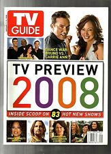 TV GUIDE-2008-TV PREVIEW 2008-INSIDE SCOOP ON 83 HOT NEW SHOWS-NO MAILING LABEL
