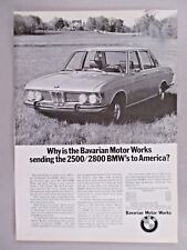 BMW 2500/2800 Car PRINT AD - 1969