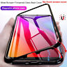 Samsung Galaxy S8 S9 Plus Note 9 Magnetic Absorption Temper Glass Case Cover Lot
