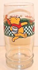 Winnie the Pooh Tall Tumbler Glass Pooh with Hunny Pot Check Pattern