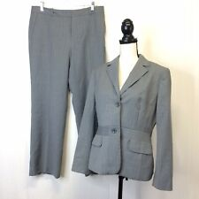 Ann Taylor Women's Gray Pinstripe Pant Suit 12P Jacket / 10P pants