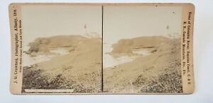Antique OREGON COAST LIGHTHOUSE FOULWEATHER JG Crawford 1880s Stereoscopic view