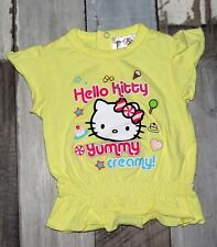 ~ Tee-shirt MC jaune HELLO KITTY fille 3 mois ~