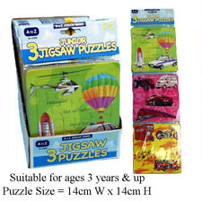 Kids Childrens Junior Tray Jigsaws Set of 3 Fun Educational Learning Puzzles